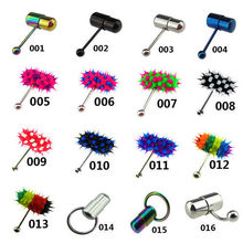 NB-225 Wholesale 16 Style Vibrating Body Piercing Jewelry With Button Battery