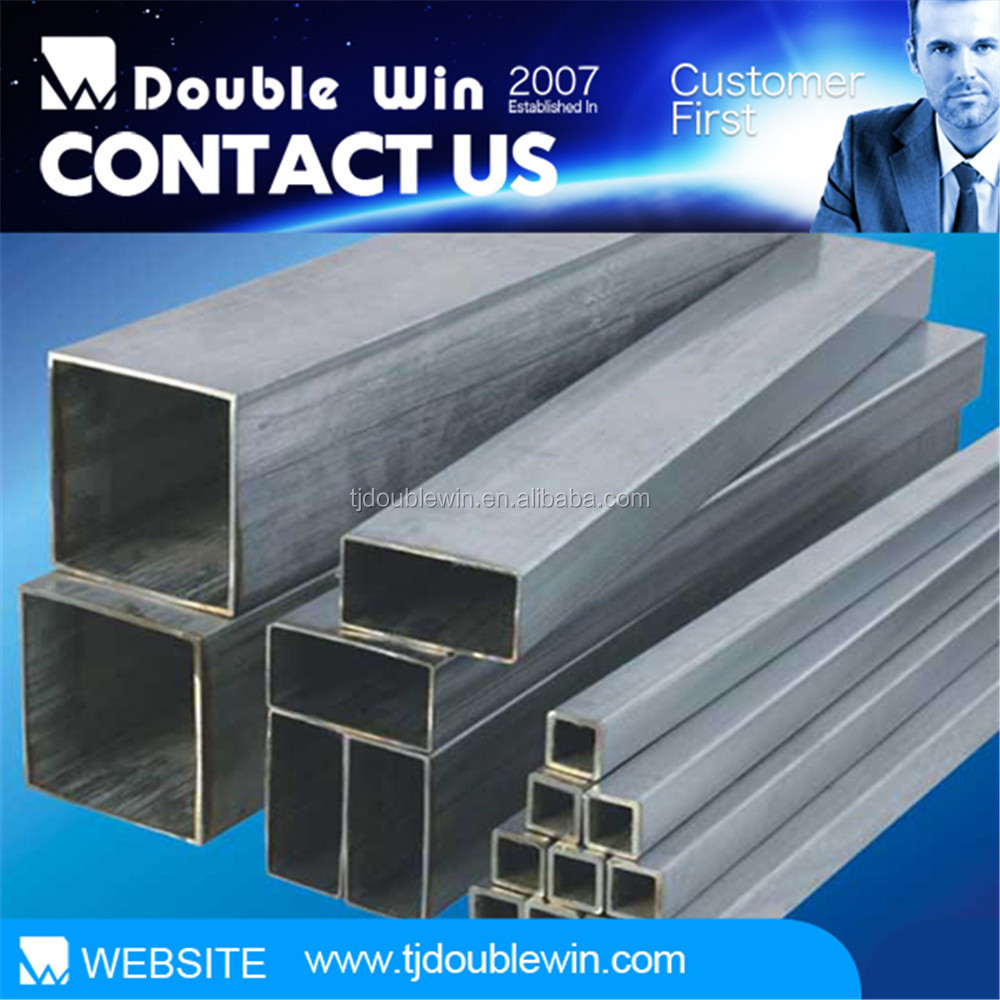 Zinc coated square tube 4 and rectangular steel pipe for construction material