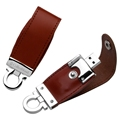 Hot! swivel leather usb flash drive, leather usb twister, rotation usb stick