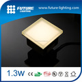 Outdoor underground tempered & frosted glass IP67 floor led up tile light 100x100mm 1.3W warm white glass led floor tile light