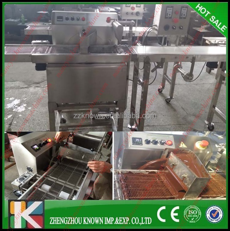 Chocolate enrobing machine/Chocolate making line with cooling tunnels