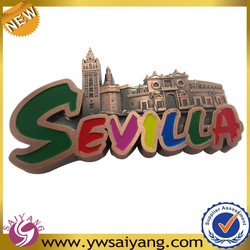Selilla Custom 3d fridge magnet souvenir metal Zinc Alloy Plated Copper fridge magnet wholesale