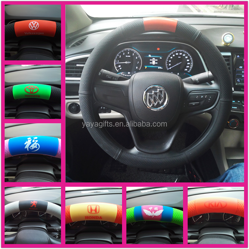 Hot sale heated Universal silicone car shrink steering wheel cover