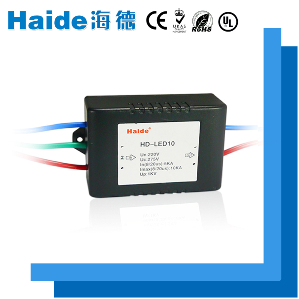 A plastic module black led types of lightning arrester