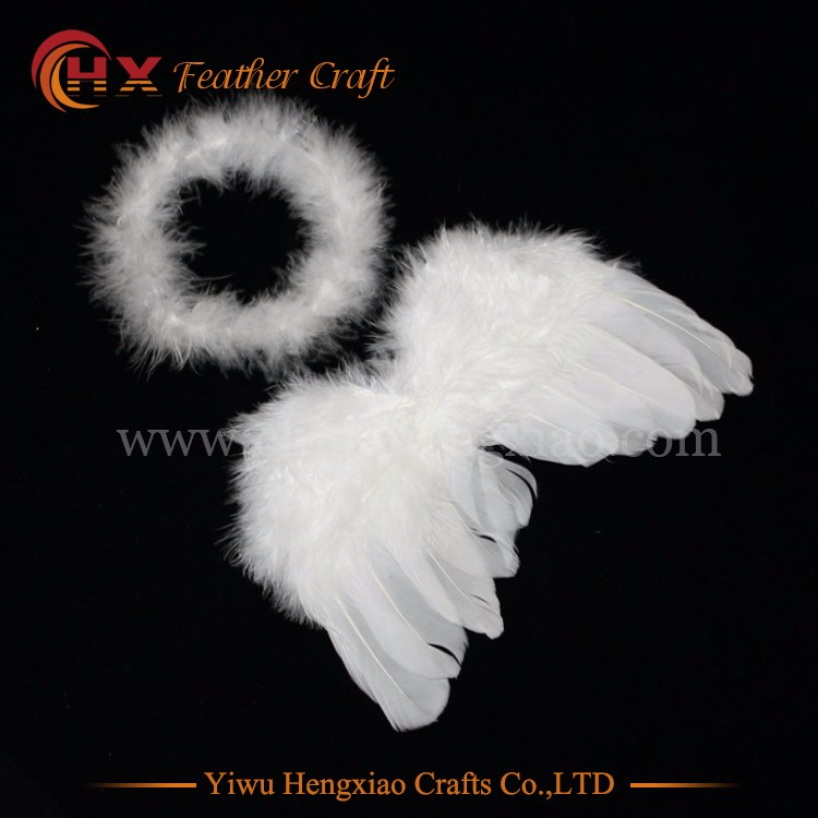 wholesale white baby feather angel wings Kids small angel wings for crafts Party Feather Wing Decoration