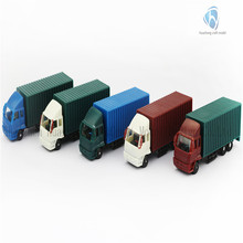 1:100 Scale Plastic Model Car, Die Cast Container Truck