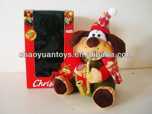 Christmas animal sound plush dog toy BC5801197