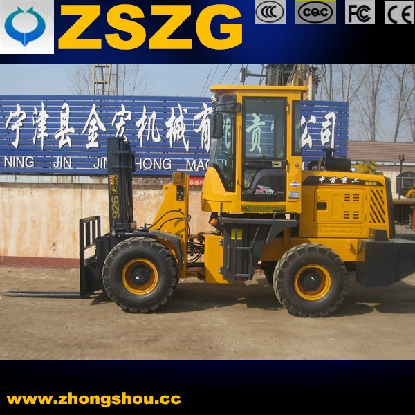cross-country forklift truck price/4WD off-road forklift for sale