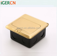 brass pop-up floor socket box and high quality power outlet with RJ45 HGD-2F