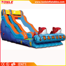 commerical big kahuna inflatable water slide for sale