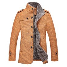 Clothing factories in china PU/cotton leather jacket, hot sale high quality winter jacket, motorcycle men jacket