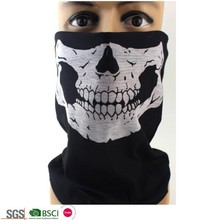 Seamless Skull Face Tube Mask Headband Headwear Bandana for Riding Motorcycle
