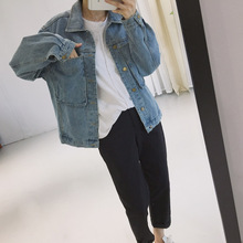 2017 western popular beat selling cheap cool light blue denim jacket new style hot new girls denim jackets wholesale