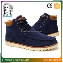 Wholesale suede men hi-top lace-up board shoes for winter