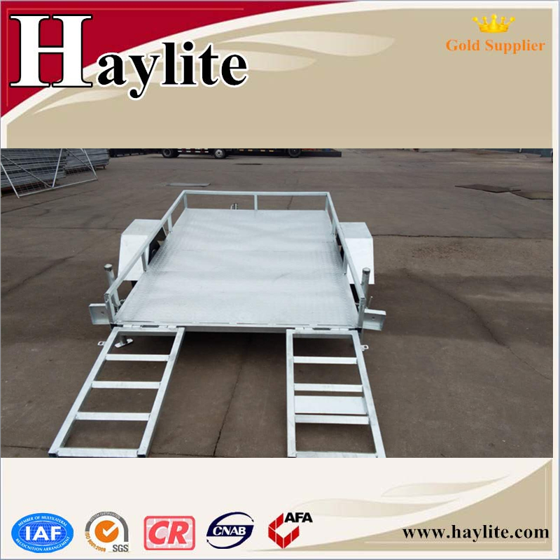 Heavy duty tandem car tipping trailer for sale