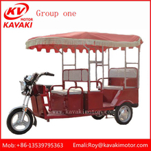 Three Wheel Electric Red 8 Passenger Hunting Vehicles