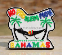 TOURIST SOUVENIR BAHAMAS Rubber FRIDGE MAGNET Custom embossed soft pvc fridge magnet ----DH20467