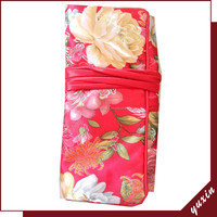 Customize embroidered satin Jewelry Bag jewelry rolls JR103
