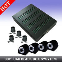 4 Channel 360-degree car insurance Mobile Car DVR System ,GPS Track Playback in Google Earth
