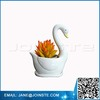 2Pcs Swan Ceramic Succulent Planter Small