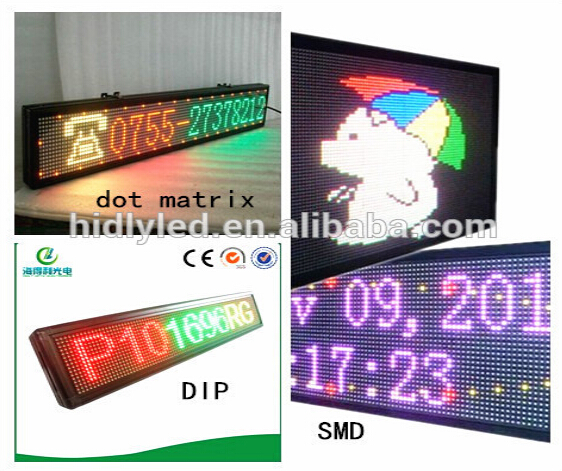 Wifi Control Scrolling LED Sign Indoor LED Display Panel