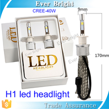Hot china products wholesale 2pcs head lamp H1 led headlight 4800LM XHP-50 chip car light 360 degree led bulb 40W led car h1