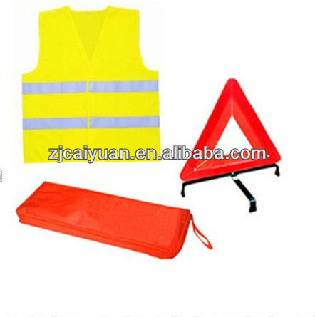 1 Vest+1 triangle safety kits