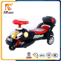 Hebei Tianshun children toy car factory black color swing car with rear box