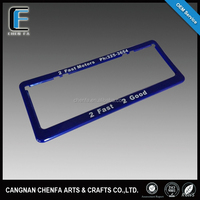 Customized Australia size printed ABS plastic blank car license plate frame, license plate frme