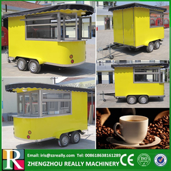 2015 hot sale caravan trailer towable fast food trailer for sale, mobile food kiosk catering trailer