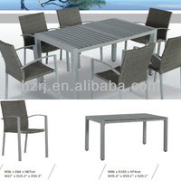 7PCS Rattan Chair And Nonwood Table