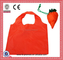 190T/210D folding polyester bag into small pocket