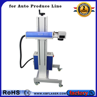 Factory Auto High Speed Produce Line Flying Laser Marking Machine CO2 Fiber UV , m