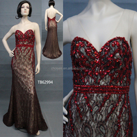 TB62994 Sweetheart Crystal Stone Long European Style Evening Dresses For Women