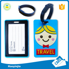 Custom Shape Factory Sale Plastic Rubber Plain Luggage Tag
