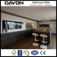 2017 New design luxury lacquer modular kitchen cabinet