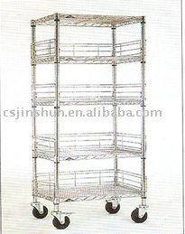 5 tier heavy duty wire shelf/Trolleys/metal shelf