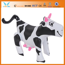 Inflatable cow costume for advertising