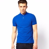 P43 Royal Blue Plain Cheap Uniform Polo Shirts for Men