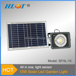 Aluminum IP65 Light control Pure White Solar Garden Lighting