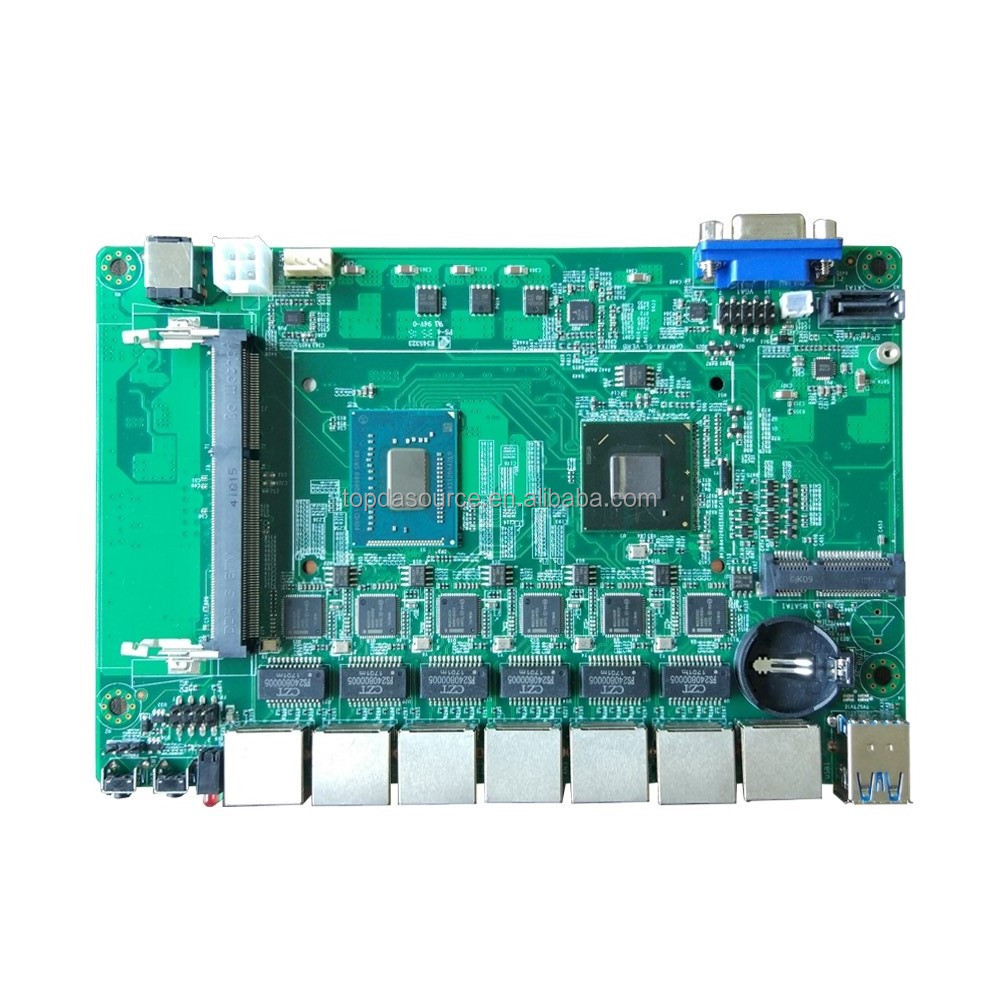 Ivy Bridge Motherboard with 6 LAN 2 COM Intel Celeron 1037U