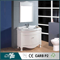 elegant design vanity cabinet curved bathroom furniture