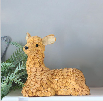New Products Rustic Christmas Decoration 2019 Noel Deer Winter Animal Wedding Party Supplies Handicraft Xmas Natal Decors