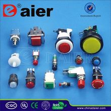 Daier black anodized aluminium led push button switch