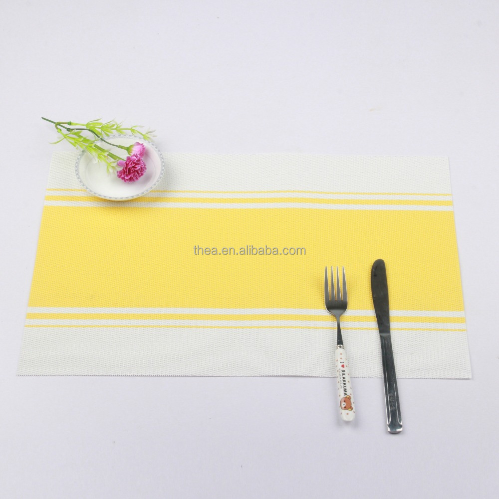 yellow 2017 new twill woven PVC placemat jacquard mat Kitchen Table Placemat