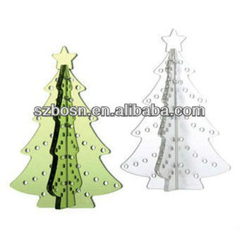 White acrylic christmas tree;christmas display;christmas hanging tower;