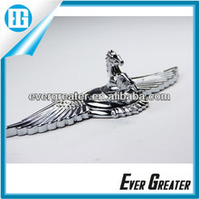 Custom zinc alloy emblems plastic chrome lettering 3M shiny chrome badge ABS plastic badge emblems