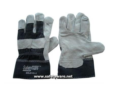 Semi Split Full Palm Leather Work Gloves