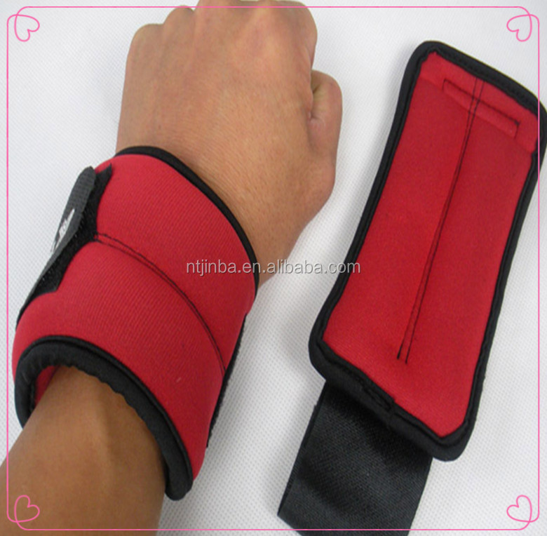 Comfortable/adjustable weight lifting neoprene velcro wrist ankle straps for men