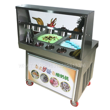 Cold Stone Marble Slab Top Fry Ice Cream Machine / Fried Ice Cream Machine / Fry Ice Pan Machine